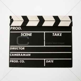 Movie clapboard.