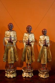 Buddhist statues.