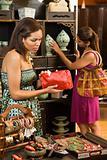 Women in boutique.