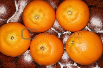 Five tangerines.