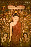 Buddha tapestry.
