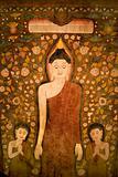 Buddha tapestry.