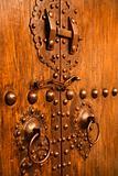 Wooden and metal doors.