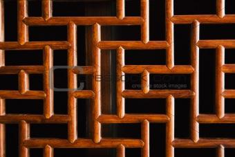 Asian wooden design.