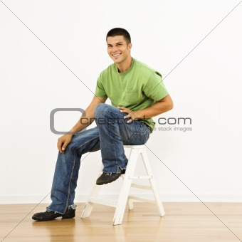 Attractive man portrait.