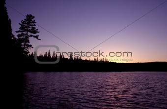 Algonquin Sunset Silhouette