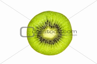Kiwi slice, white background
