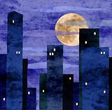 moonlit town