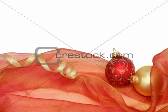 Christmas frame (isolated on white with copyspace)