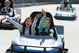girls on go cart