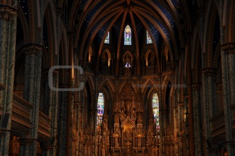 Notre Dame Cathedral in Ottawa