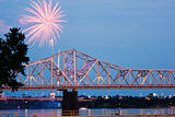 Fireworks by Ohio River iby Kentucky/Indiana border