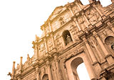 Ruins of St.Paul&#39;s in Macau. 