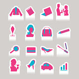 Woman in business - vector cutting sticker