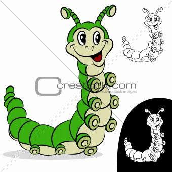 Caterpillar Cartoon Character