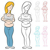 Overweight Woman With Abdominal Fat