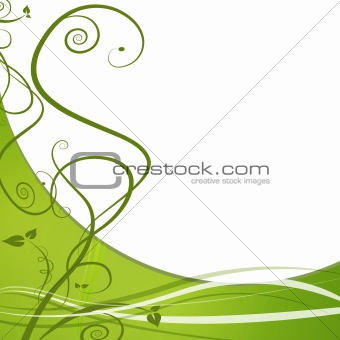 Green Leaf Nature Vine Background