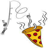 Pizza Fishing Lure
