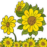 Sunflower Design Element
