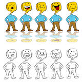 Emotion Expressions Icon Man
