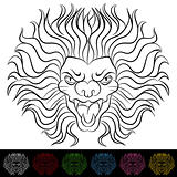 Lion Head Drawing