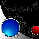 Swirl Vine Shiny Circle Background