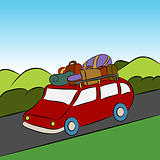 Family Vacation Car Trip