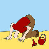 Head Stuck in The Sand