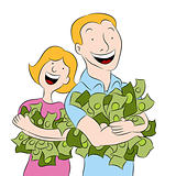 People Holding Piles of Money