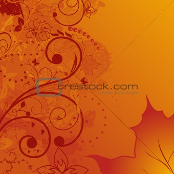 grunge autumn background, element for design