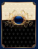 gold invitation frame or packing for elegant design
