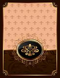 golden ornate frame with emblem