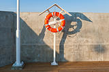 Life buoy on the seaside