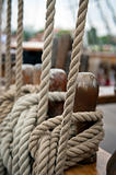 Rope on the old boat
