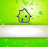 Green Real Estate water drops background