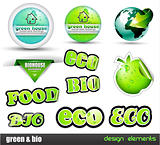 Eco &amp; Green Bio set of stickers 