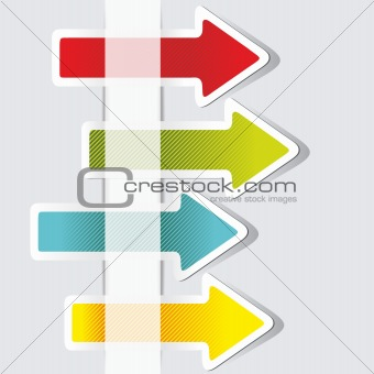 Arrows stickers. Vector