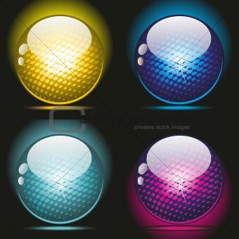 3d glass balls