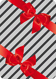 Gift wrapping with two ribbons