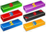 Gift boxes with colorful decorative bows