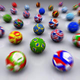 3D Render of Soccer Balls