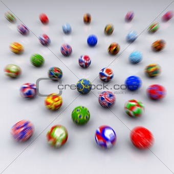 3D Render of Soccer Balls