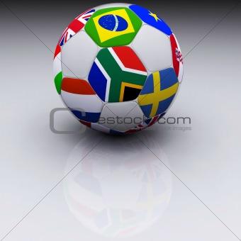 3D Render of Soccer Ball