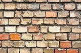 Abandoned brick wall texture