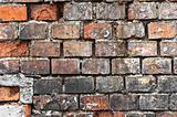 Abandoned brick wall texture