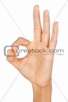 OK sign, hand gesture
