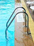 stair swimming pool