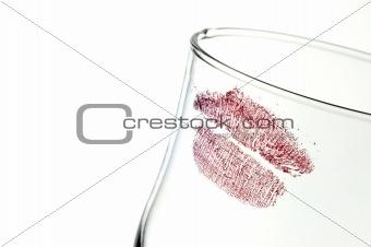 Kiss on glass