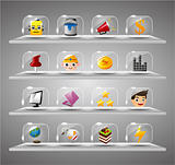 Website Internet Icons ,Transparent Glass Button