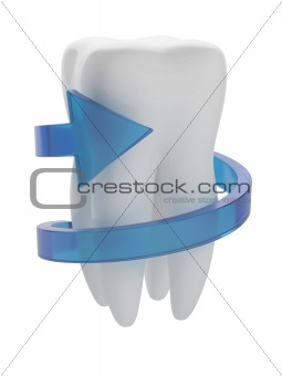 Tooth with arrow